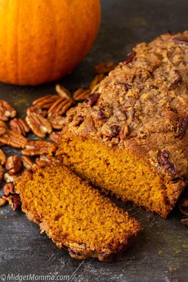Moist Pumpkin Bread - Moist Pumpkin Bread with Pecan Maple Streusel Topping