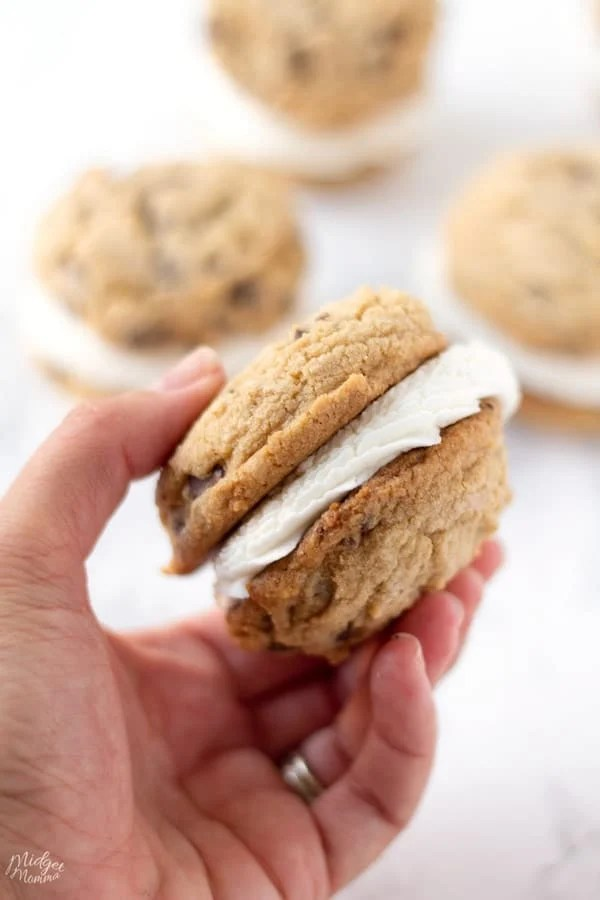 soft Chocolate Chip Cookie with frosting