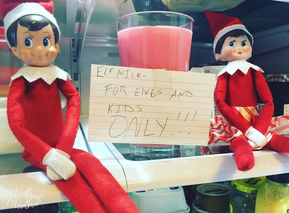 Elf on the Shelf for Toddlers - Elf dyes the milk
