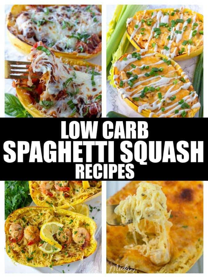 Low carb spaghetti squash recipes