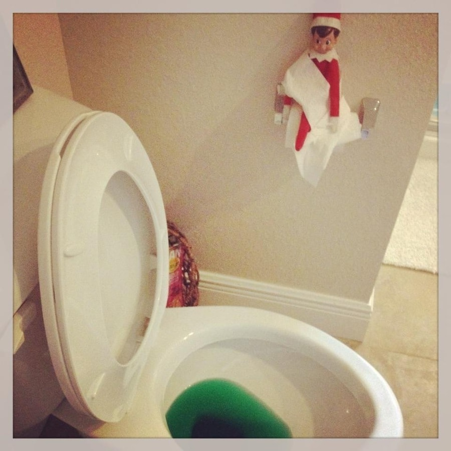 elf on the shelf ideas for toddlers - elf pees in the potty