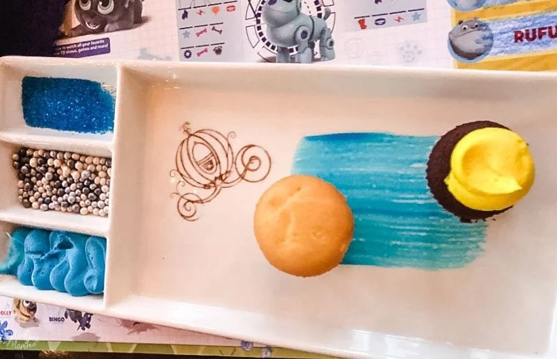 Cinderella's Royal Table kids dessert