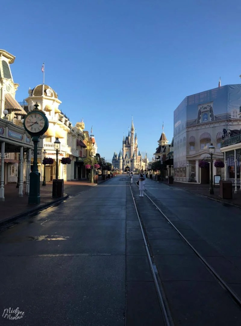 How to get the Empty Park Disney World Photo