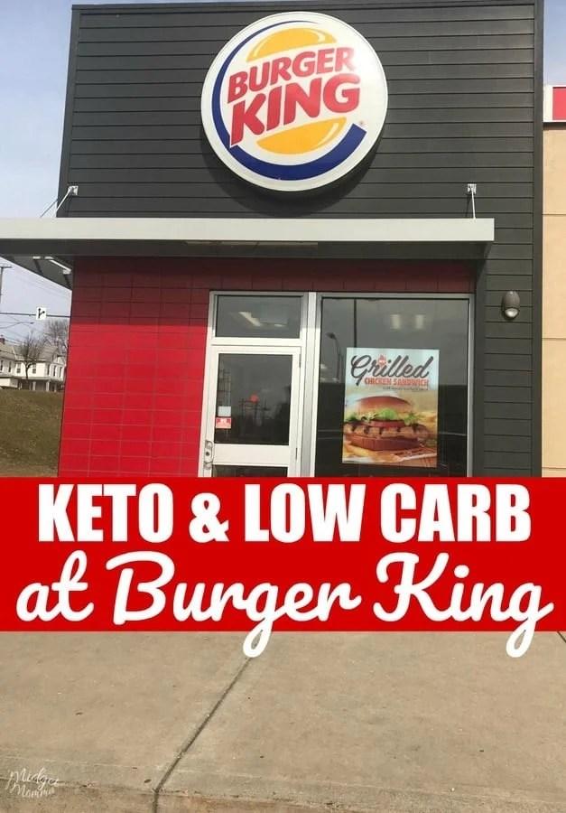 Keto at Burger King