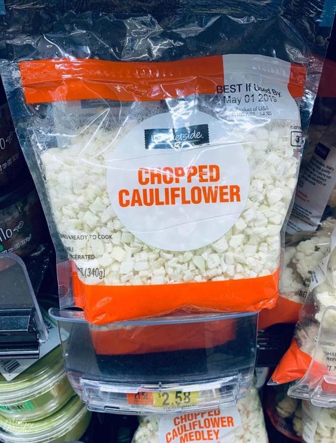 chopped cauliflower at Walmart