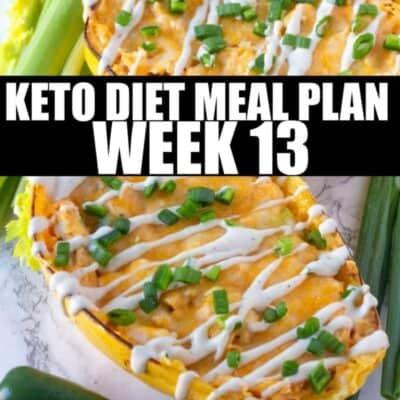 week 13 keto diet meal plan