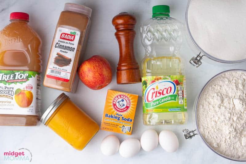pumpkin apple bread ingredients