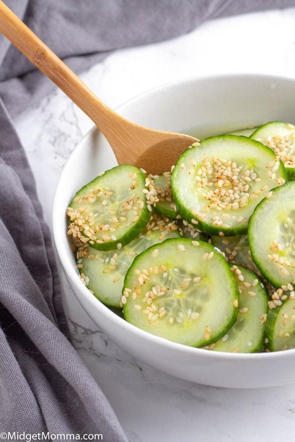 Asian Cucumber Salad - close up photo