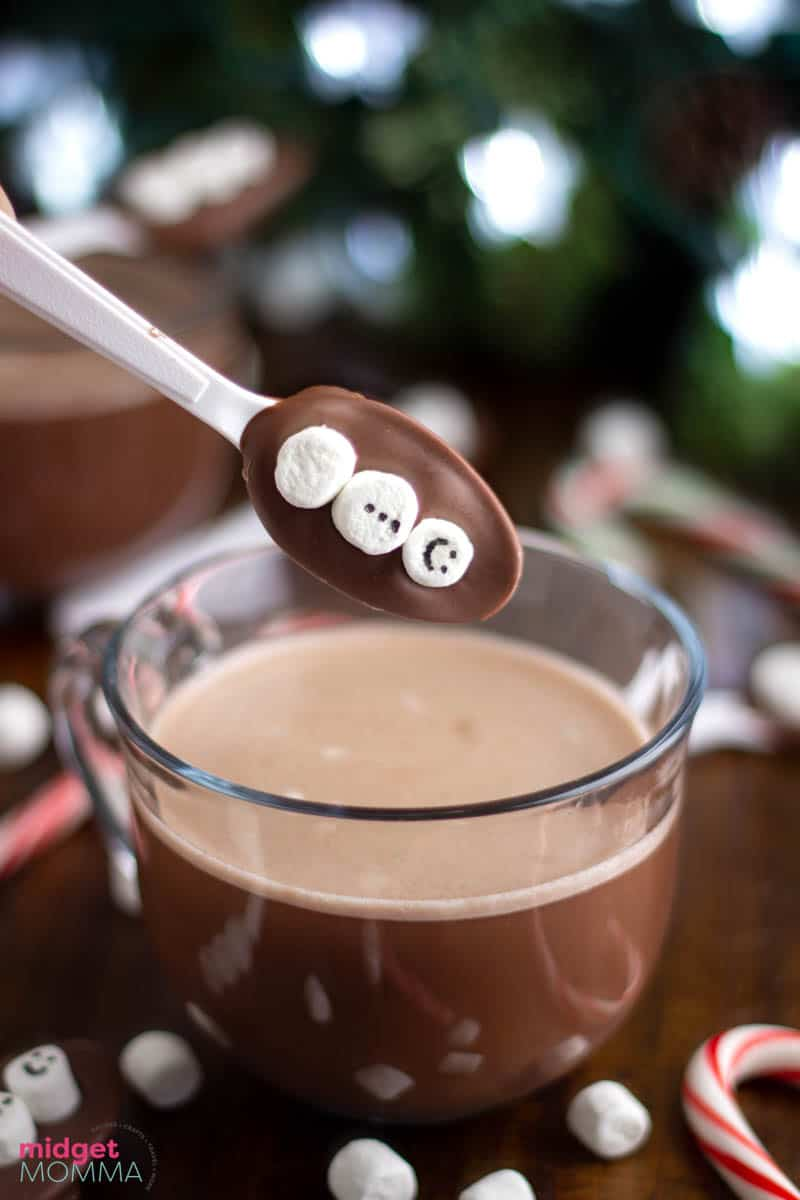 Easy hot chocolate spoons