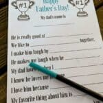Father's Day ALl about dad printable