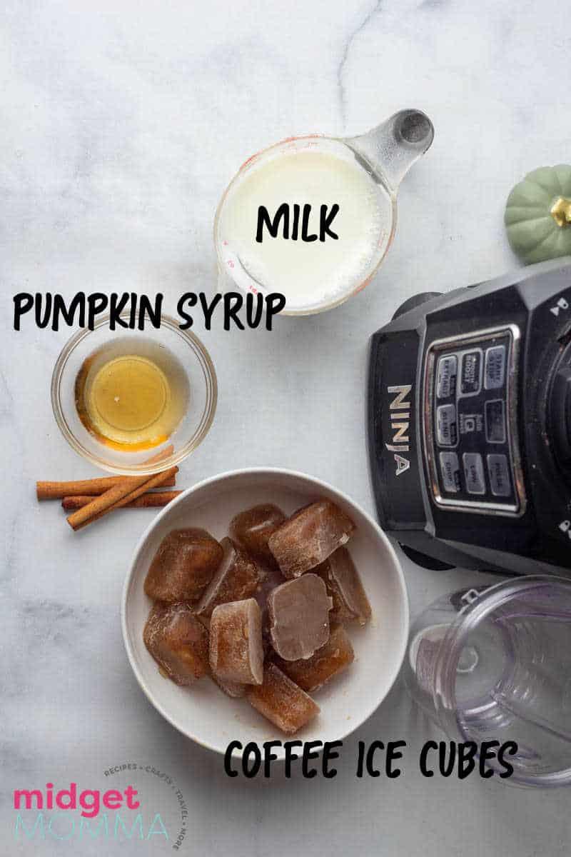 Pumpkin Spice Frappuccino INGREDIENTS