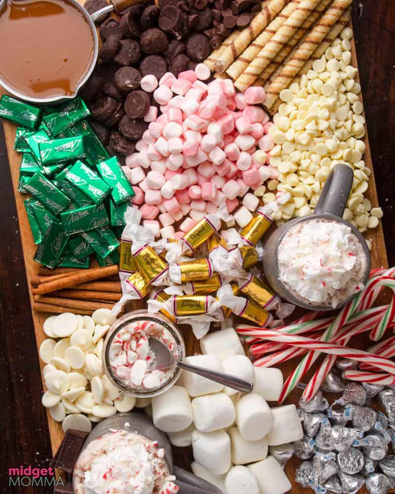 hot cocoa Charcuterie Board