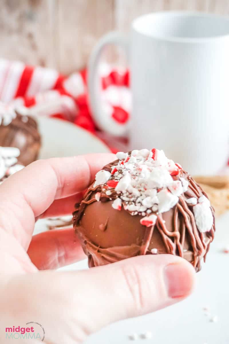 Peppermint hot chocolate bombs
