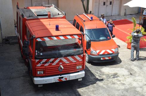 Sapeurs-Pompiers : Deux nouveaux véhicules et plus de 100T matériels