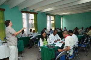 Lors de la formation des formateurs des agents fonciers. (Photo : Yvon Ram)