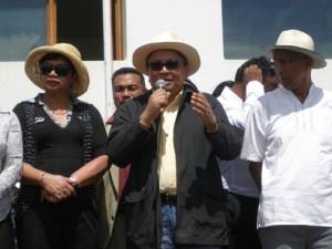 Des ténors de la mouvance Ravalomanana étaient présents, avant-hier, au Magro Tanjombato. ( Nary Ravonjy)