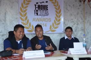 Les responsables de T-movie, lors de la conférence de presse. (Photo Kelly)