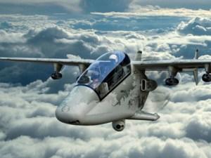Premier vol public de l'AHRLAC, le premier avion « made in Africa ».