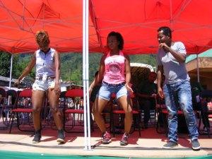 Le Groupe James avec, de droite à gauche, James, Vandiasa et Fenosoa, a séduit le public de Ranomafana.