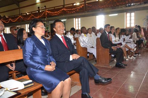 Temple FJKM Imerinkasinina : Double événement hier pour la famille Ravalomanana