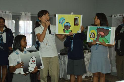 Volontaires japonais : Première action hier à Anosibe Angarangarana