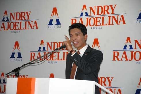 Andry Rajoelina : Inauguration du QG du candidat « numéro 13 »