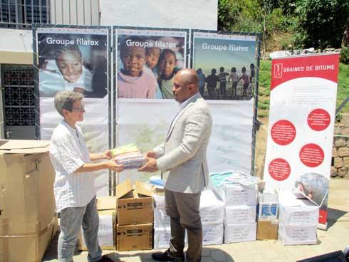 Groupe Filatex : 210 kits scolaires pour Graines de Bitume