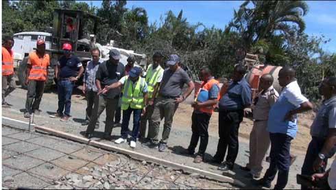 Reconstruction de la RN5 : La nouvelle route en béton armé achevée à 27%