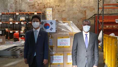Corée du Sud : Dons de 1 000 équipements de protection individuelle contre le Coronavirus