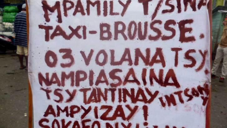 Mpamily « taxi brousse » eto Toamasina :Nanao antso avo hanokafana ny làlam-pirenena hiasany