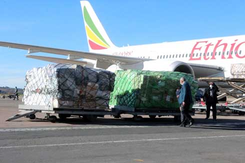 EPI : 14 tonnes réceptionnés hier