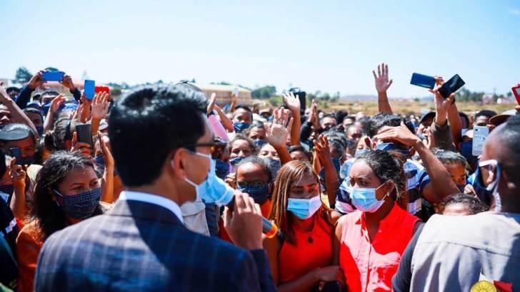 Andry Rajoelina : Descente présidentielle dans le Vakinankaratra