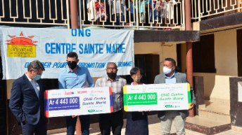 Société malgache de Magasins : Une somme de 8 886 000 Ar offert à l'ONG Centre Sainte Marie