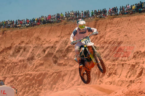 Motocross-MX Kawasaki : Victoire de Ranty Ernest