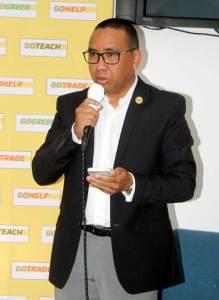 Yves Andrianaharison, DG de DHL Madagascar, lors de la cérémonie de présentation des actions RSE de cette société.