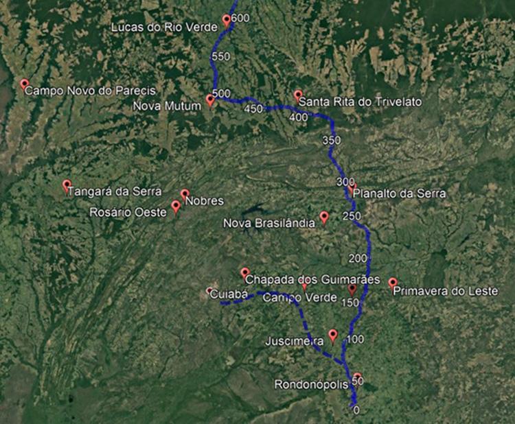 Mapa Ferrovia Estadual