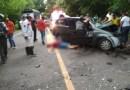 Dos personas muertas y tres heridos en accidente de tránsito