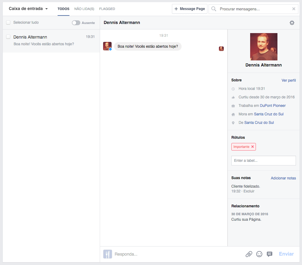 facebook-messenger-paginas-tela-inicial-dashboard