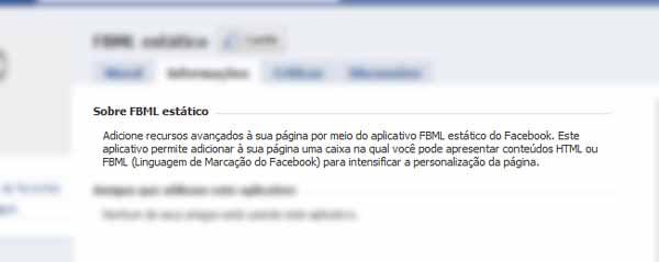 Mais informações sobre o FBML, marcação do Facebook
