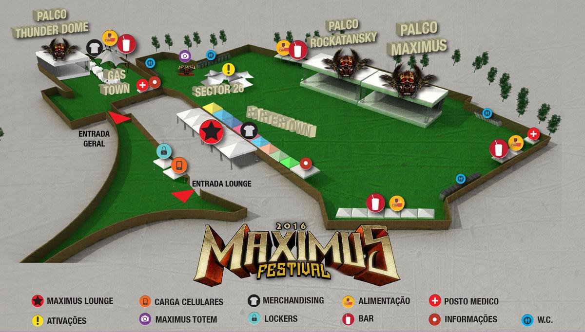 Maximus Festival - Mapa