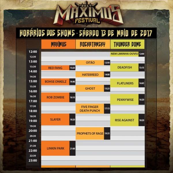 Maximus Festival - Horarios