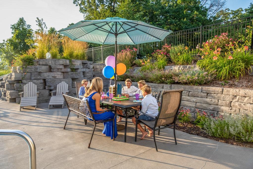people enjoying patio