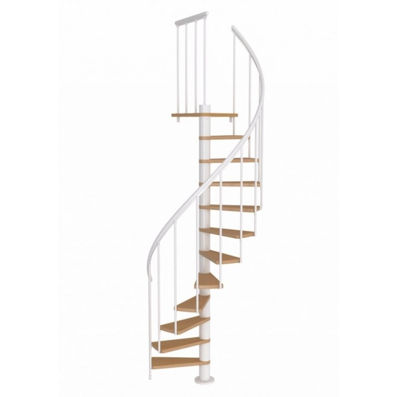 Dolle Calgary White Spiral Staircase 120Cm | Dolle Calgary Spiral Staircase