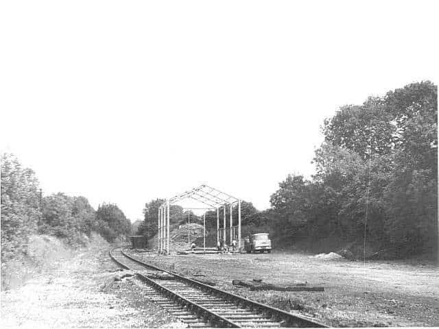 The Carriage and Wagon shed at Butterley c1973