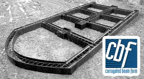 CBF Corrugated Beam Form for Concrete Foundations