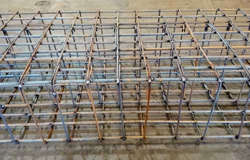 Prefabricated Steel Cage Complete and Ready for Shipping