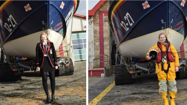 RNLI sixth form volunteer
