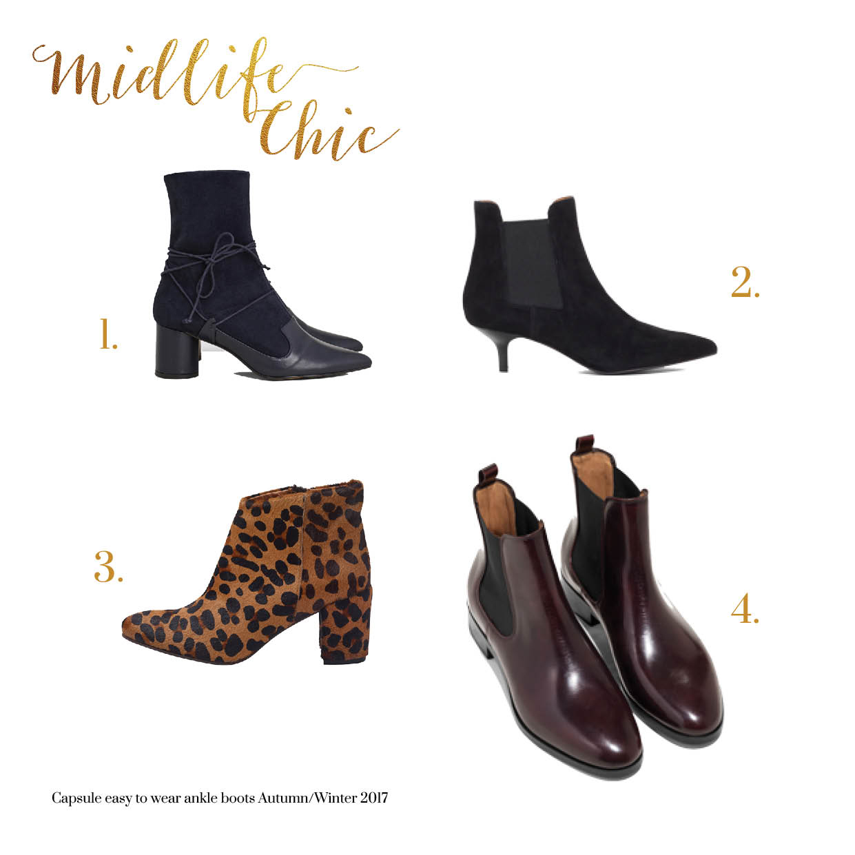 Best ankle boots for women over 40 Autumn 2017