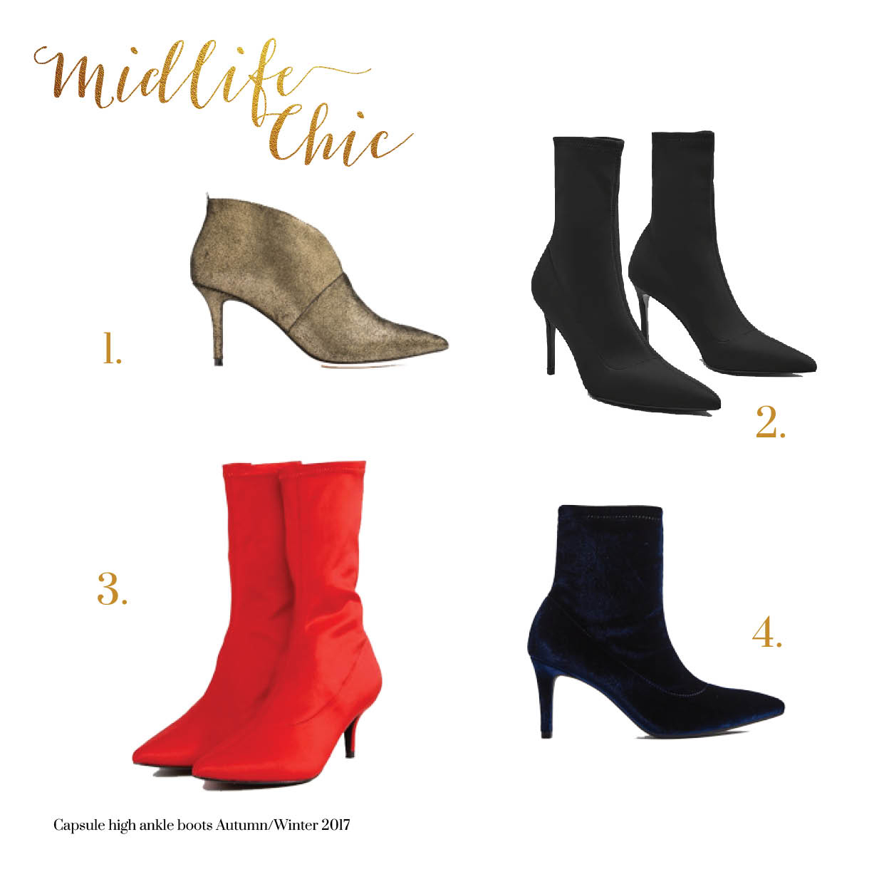Best high heeled ankle boots for women over 40 Autumn 2017