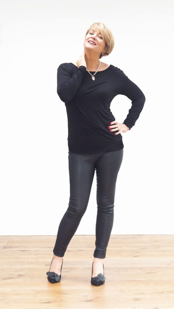Wearing leather leggings after 40